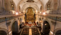 Iluminación nave central y altar, iglesia San Lorenzo, Padres Franciscanos. Valencia.