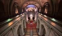 Iluminación nave principal y altar. Iglesia universitaria del temple. Valencia