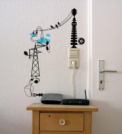 enchufes vinilo electricista