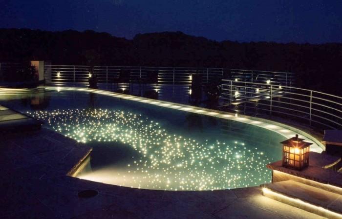piscina iluminación fibra optica