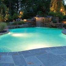 piscina iluminación led