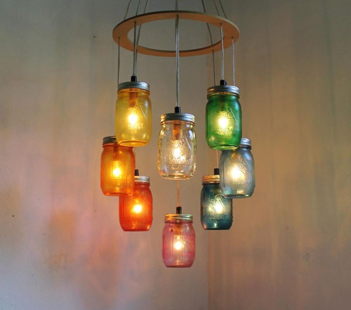 8 l mparas originales handmade f ciles y muy chulas - Como decorar tulipas de lamparas ...